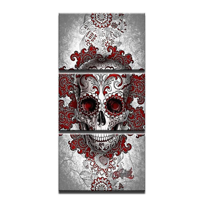 "39/"" canvas print gothic skull flower art painting street modern pop"