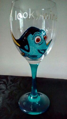 DORI trouver Memo jamais boire de nouveau look Vin Peint Main grand verre vin