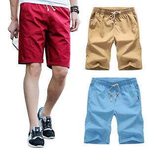 Summer-1Pcs-Men-039-s-Casual-Shorts-Beach-Shorts-Cotton-Mens-Shorts-Fashion