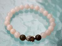8 Mm Black White Onyx Budha Prayer Beads Handmade