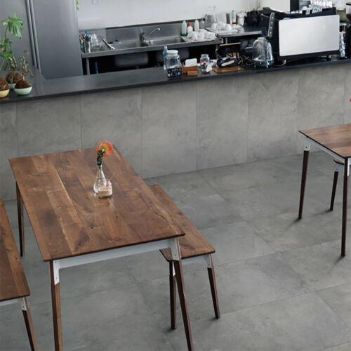 60x60cm Pietre di Fiume Grigio Matt Porcelain Wall /& Floor Tiles