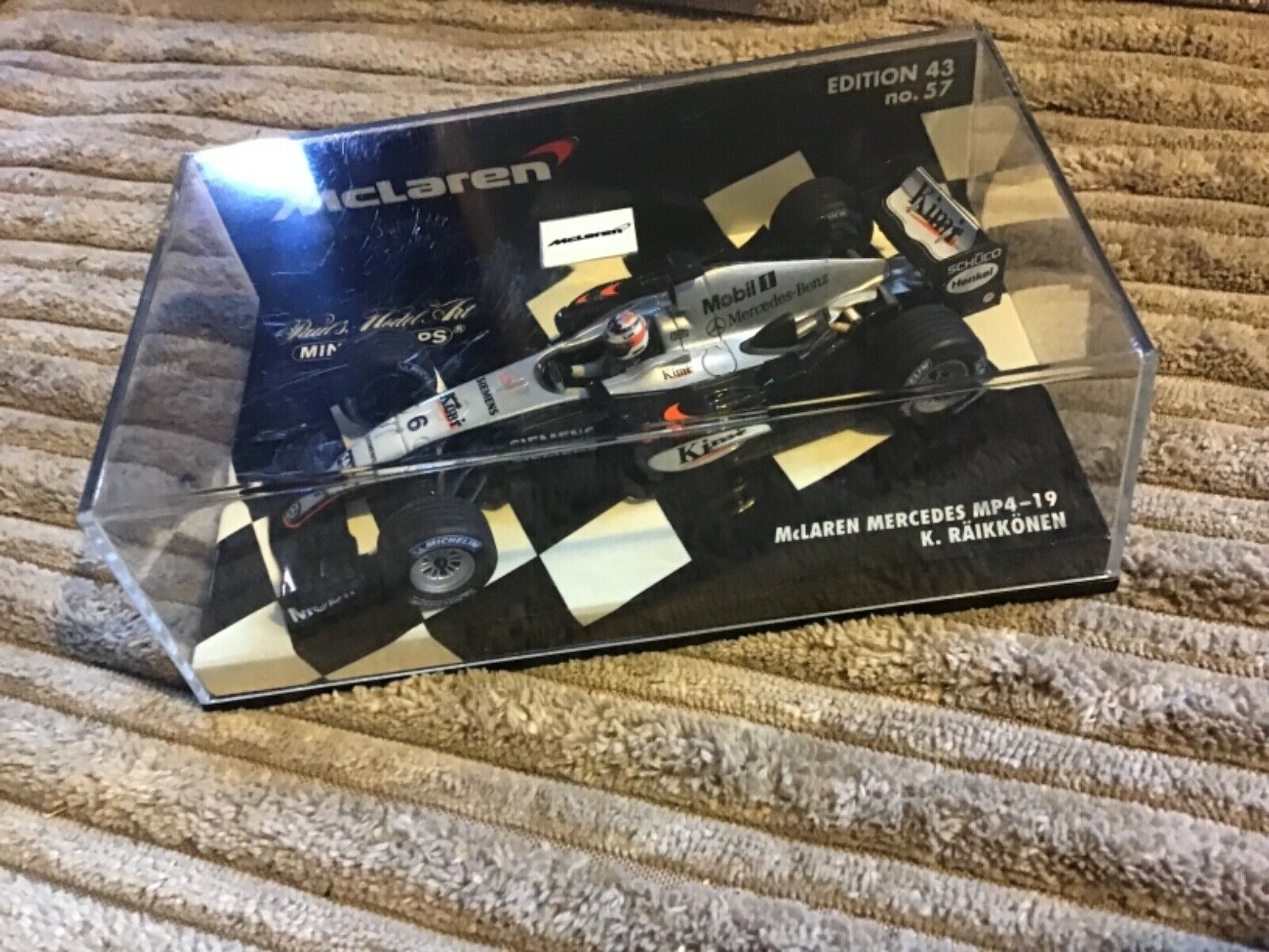 MINICHAMPS F1 1 43 McLaren MP4-19 Mercedes - K. RAIKKONEN EDITION 43 No 57