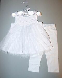 56d43429018323 Macy's FIRST IMPRESSIONS® Baby Girl's 12M White 2 Pc. Top & Legging ...