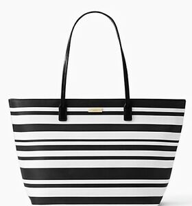 Image Is Loading Kate Spade S Street Margareta Striped Large Tote