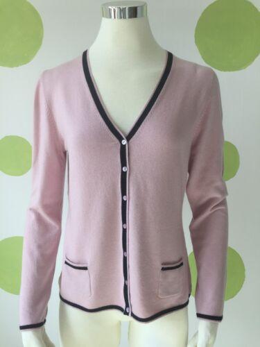 Damen Strick Jacke aus Seide Kaschmir,Gr.XXL//44,Fb.rosa//schwarz,Räumungsverkauf