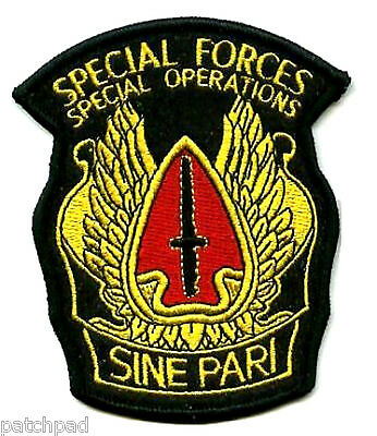 SPECIAL FORCES SINE PARI SPECIAL OPERATIONS SP OPS DISTINCTIVE UNIT INSIGNIA