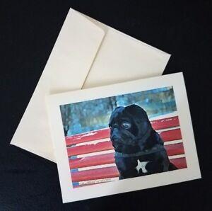 034-Pug-In-Deutschland-034-Dog-Lover-Notecard-with-Envelope