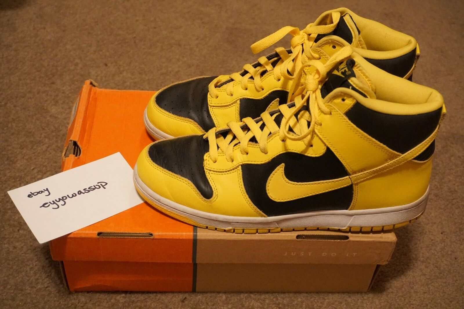2003 NIKE DUNK HIGH SIZE GOLDENROD SIZE HIGH 10.5 21eee9