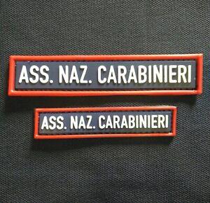 Patch-Toppa-A-N-C-Ass-Naz-Carabinieri-scritta-3D-rilievo-gomma-velcro-PICCOLA