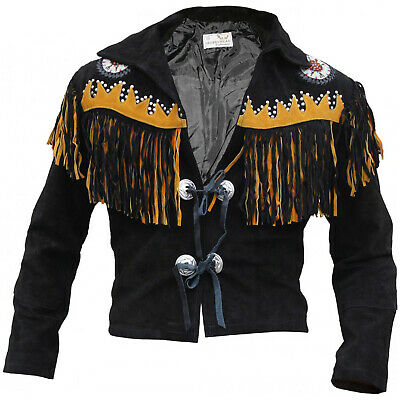 """Ambizioso German Wear, Western Giacca Giacca Cavaliere Western Giacca Di Pelle Indiani Costume Nero-cke Reiter Jacke Western-lederjacke Indianer Tracht Schwarz"""" Data-mtsrclang=""""it-it Mostra Il Titolo Originale"""