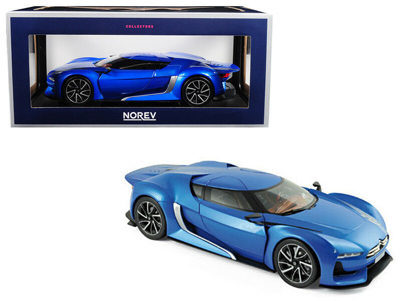 1 18 Norev 2008 Citroen Concept GT Electric bleu Diecast Model Car bleu 181613