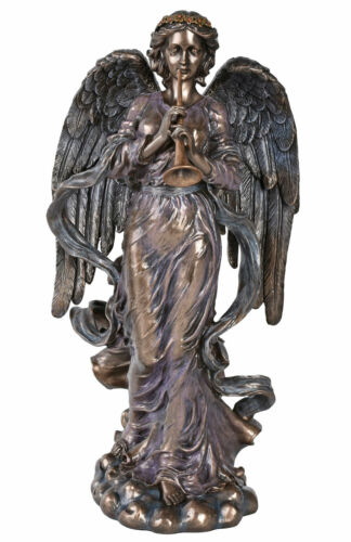 Vintage Engel Figur im Jugendstil Schutzengel Skulptur Erzengel Cherub Veronese