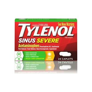 TYLENOL Sinus Congestion and Pain Severe Caps Daytime Non-Drowsy 24 Caplets 1pk