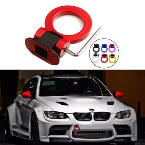 Universal Car SUV Ring Track Racing Style Tow Hook Look Decoration 6-Colors NEW