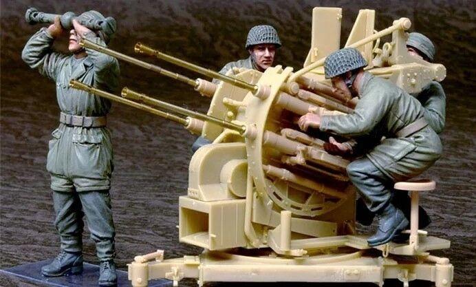 1 35 1 35 Resin World War II German Crew for Flak 38 Model Figure Kit
