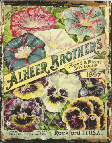 ALNEER BROS GARDENING WALL SIGN 8x10in pub bar shop cafe art coffee diner