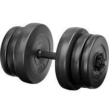 Lot d'haltères courts poids barres disques fitness musculation biceps sport 20kg