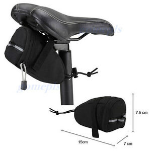 Cycling-Bicycle-Bike-Saddle-Outdoor-Pouch-Seat-Bag-Frame-Black