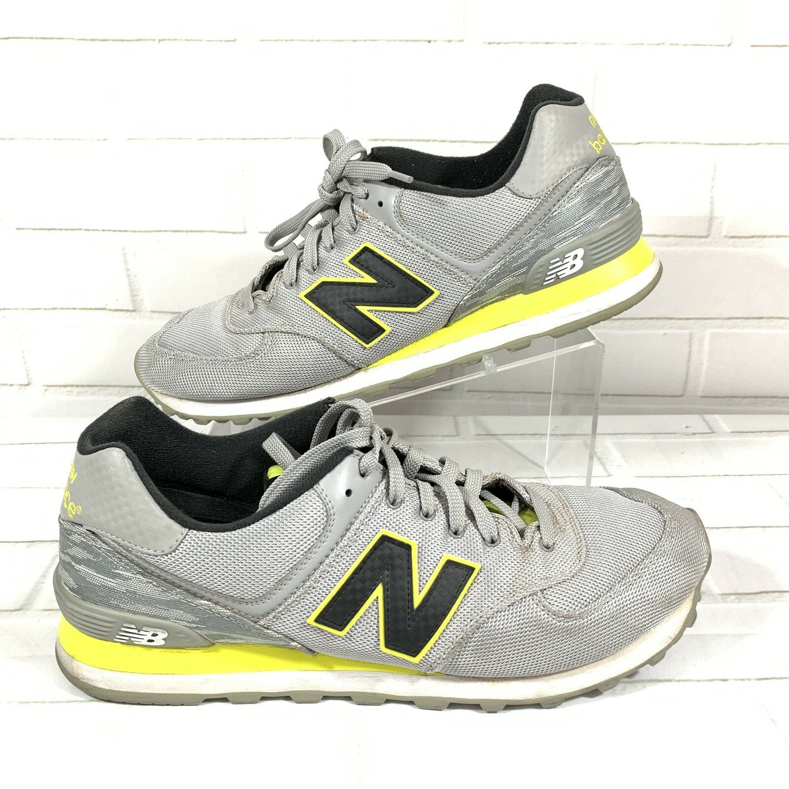 Mens New Balance 574 Summer Waves GreyYellow Running shoes Size 12 limited