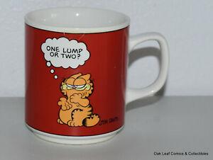 Vintage 1978 Garfield Mug One Lump or Two Jim Davis Ceramic