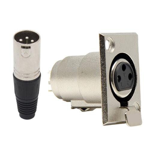XLR 3Pin Mikrofon Audiokabelstecker XLR 3Pin Buchse