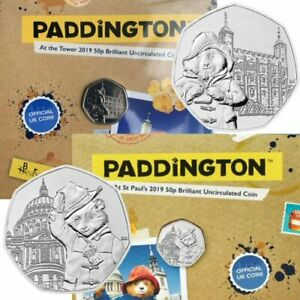 Paddington-at-St-Pauls-Cathedral-Tower-of-London-50p-Coins-Royal-Mint-BU-Folders