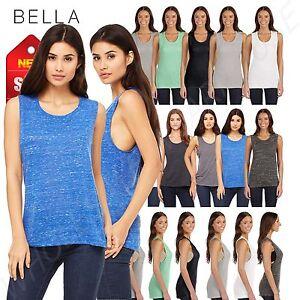 82b1fa0a3d3d2 Bella + Canvas Women s Flowy Scoop Muscle TanK Top Shirt M-B8803
