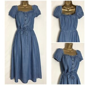 M-amp-S-Chambray-Lyocell-Midi-Dress-3-Lengths-Sizes-8-32-ms-293h