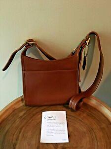 Coach-Brown-Leather-Shoulder-Crossbody-Purse-Bag-9997-Vintage-W-Gift-Receipt