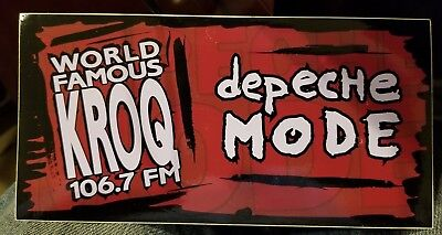 KROQ 106.7 World Famous new sticker very rare collectible 90s