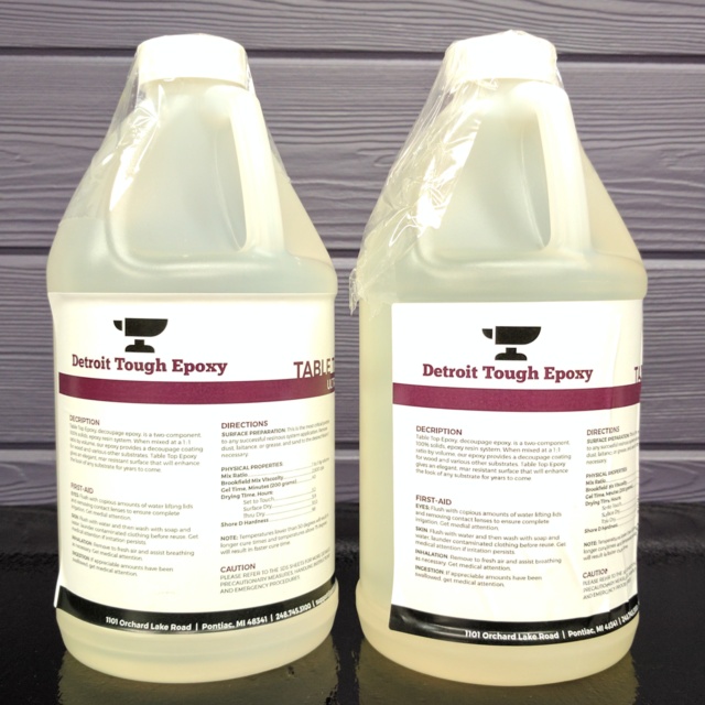 Clear Epoxy Resin - Counter Tops, Bar Tops, Table Tops, & Crafting 1 Gallon Kit