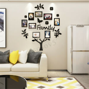 8x 3d Family Tree Photo Pictures Collage Frame Kit Wall Art Home