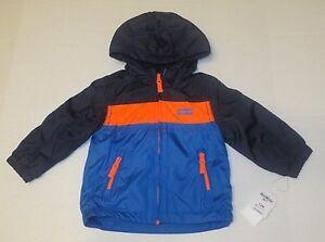 a018a8db2 NWT Kids Boys OshKosh B gosh Paneled Mid-Weight Jacket Coat SZ 12 ...