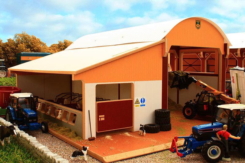 Sottobosco Dutch Barn Insilato Clamp con cubicolo Lean-a 1:32 SCALA Farm Toys BT8985
