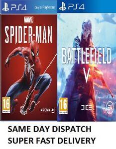 Details about Marvel's SpiderMan PS4 + Battlefield V 5 PS4 Bundle - New -  Excellent Gift