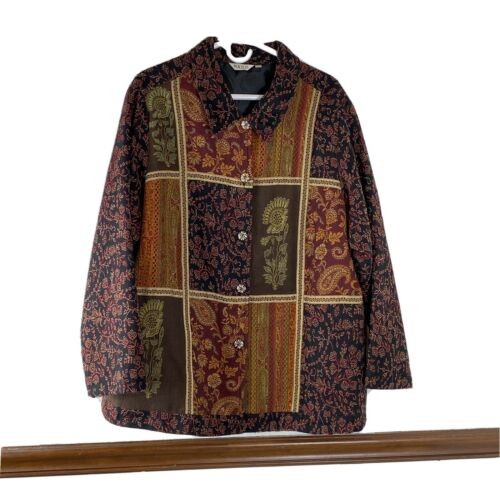 Mayur Womans Jacket Size 18/20 Autumn Fall Floral
