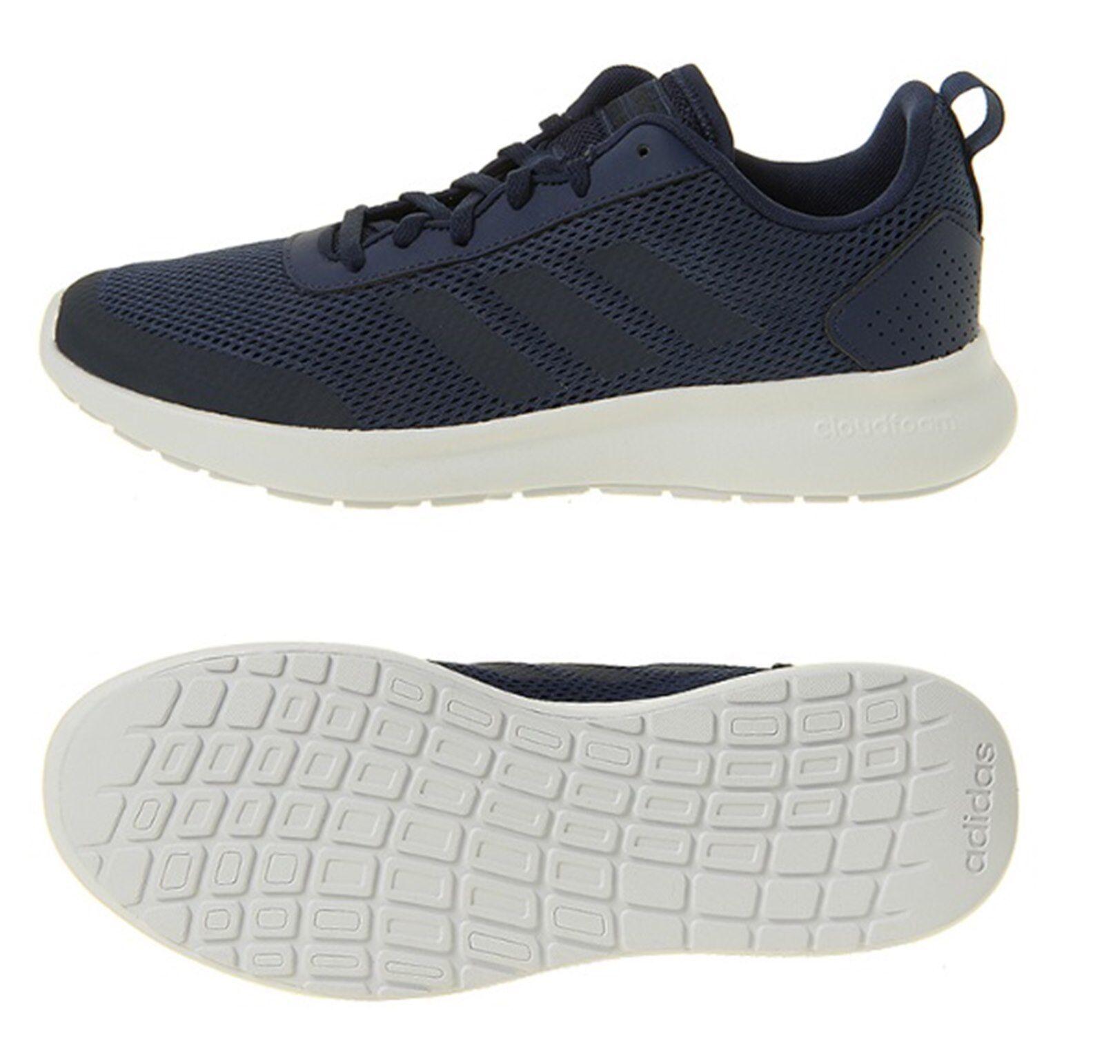 Adidas Men ELEMENT RACE Training Shoes Running Navy White Sneakers Shoe B44862