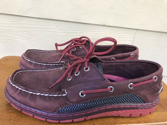 Sperry Top-Sider Men's 2 Eye Brown Leather Boat Shoes Size US 9M
