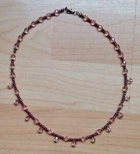 Handmade-Ladies-Pink-Bead-Necklace