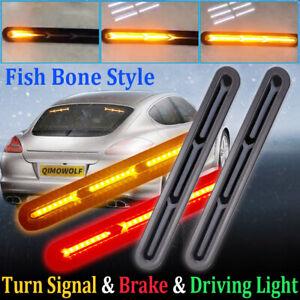 2x-60LED-Car-Truck-DRL-LED-Light-Bar-Brake-Flowing-Turn-Signal-Stop-Tail-Strip