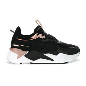 Details about Puma Women's RS-X Trophy Puma Black/Rose Gold Sneakers  37075204 NEW!