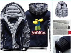 Game Roblox Dab Noob Hoodies Boys Men Sweatshirts Thick Fleece