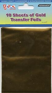 10-SHEETS-TRANSFER-FOILS-SHINY-METALLIC-GOLD-CARDMAKING-CRAFT-HOBBY-STIX2-S57111