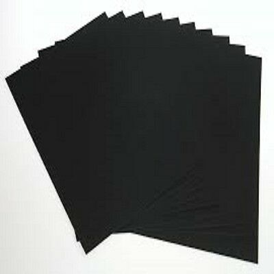 A5  X 50 SHEET CARD BLACK 170gm HIGH QUALITY ART CRAFT OFFICE COLLAGE USE