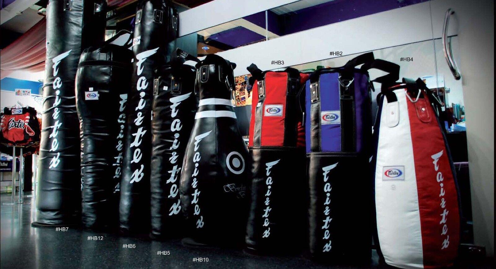 HB2 GENUINE Fairtex Muay Thai Kick Boxing K1 MMA Classic Heavy Bag HB2 UnFill