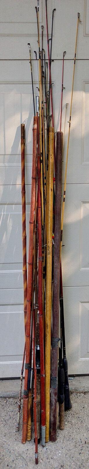 Huge Vintage Fishing Pole Rod Collection Estate LOT South Bend Berkley Shimano