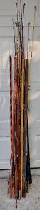 Huge-Vintage-Fishing-Pole-Rod-Collection-Estate-LOT-South-Bend-Berkley-Shimano