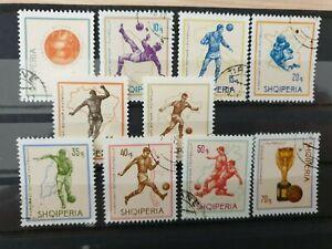 Albania 1966 World Cup Football Championship (1st series). 10 stamp set CTO