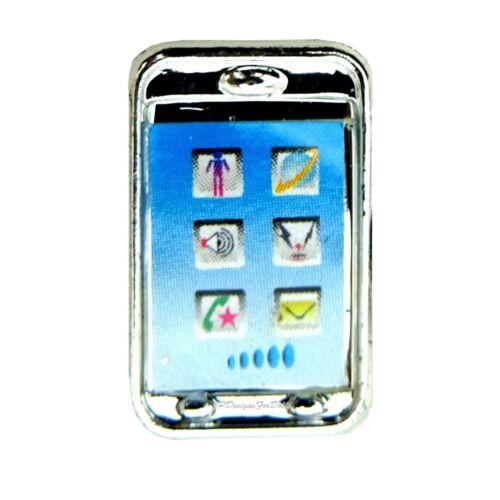 Barbie Collezione Basics tono argento telefono cellulare nuovo fuori dalla scatola
