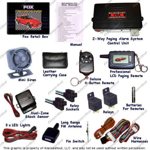2-WAY LCD CAR ALARM w// REMOTE START STARTER 2 REMOTE MANUAL OR AUTOMATIC NEW